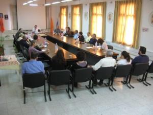 Rabbi Kaplan at the Lod Mayor's Office