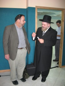 Acco Chief Rabbi Yashar and Rabbi Kaplan