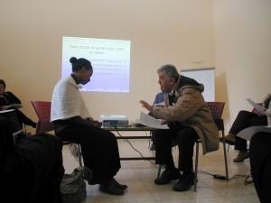 Medical Ethiopian professional artist in the Ir Ganim training
