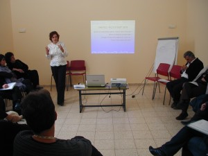 Michal Schuster at the Second workshop in Ir Ganim Clalit clinic