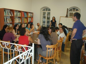 First day of Arabic Beginners Course - October 12 2009