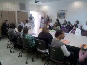 Bikur Holim Interpretation Course - on the left Rabbi Shlomo Pappenheim, main Eda Haredit Leader and a Board Member of the hospital