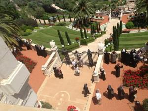 At the Bahai Gardens in Haifa