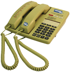 An example of a dual-handset telephone for interpreting