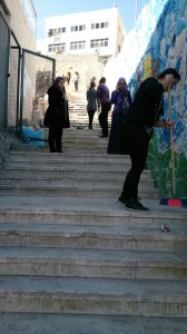 Issawiya stairs: beginning work