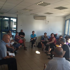 Meeting with merchants, residents, community  and municipal officials