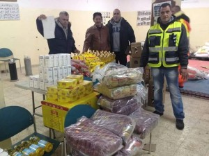 Food for distribution in Issawiya