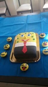 Spongebob cake and emotocons