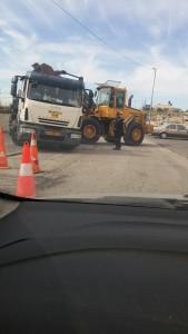 Road work in Beit Hanina