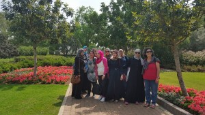 In the gardens