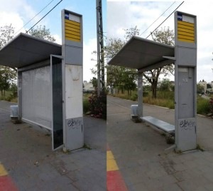 Renewed bus stop in Beit Hanina