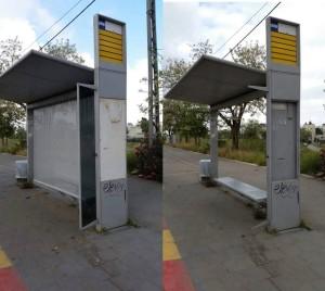Renewed bus stop in Beit Hanina