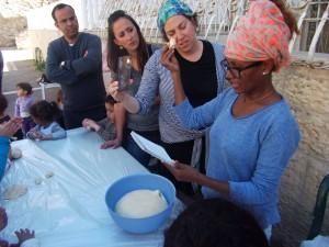 Taking Challah before baking Challot