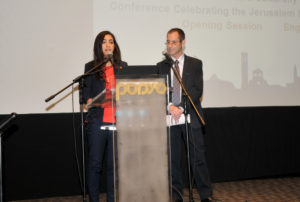 Opening the conference in Arabic and Hebrew