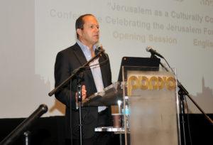 Jerusalem Mayor Nir Barkat at conference