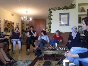 Israeli and Palestinian women meeting in Abu Tor/A-Thori