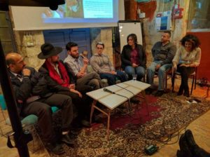 From L. to R.: Nasr, Boaz, Yossi, Ohad, Yael, Hatem and Michal