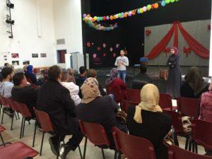 At a workshop in Sur Baher