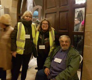 Window to Mount Zion volunteers