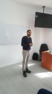 Daud, Atta'a Director, in a workshop