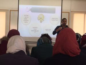 Daud, Atta'as Director, explaining about Atta'a and Savings for Every Child program