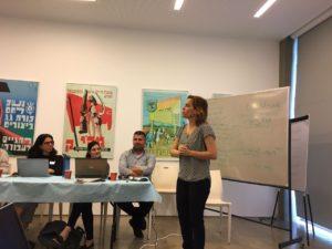Orna Shani, Desk Director, lecturing