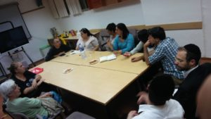 Gilo residents meeting with 15 Minutes in October