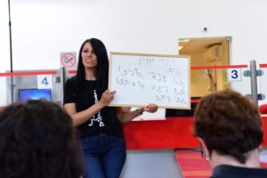 Arabic lesson with Suha (photo: Yisrael Weil)