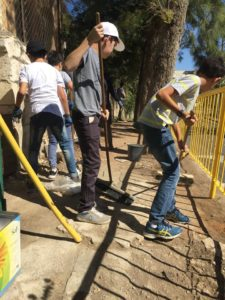Cleaning in different parts of East Jerusalem