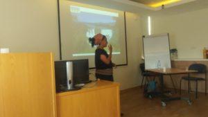 Yuvi lecturing