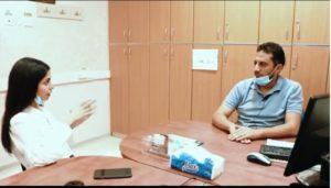 Muhammad being interviewed
